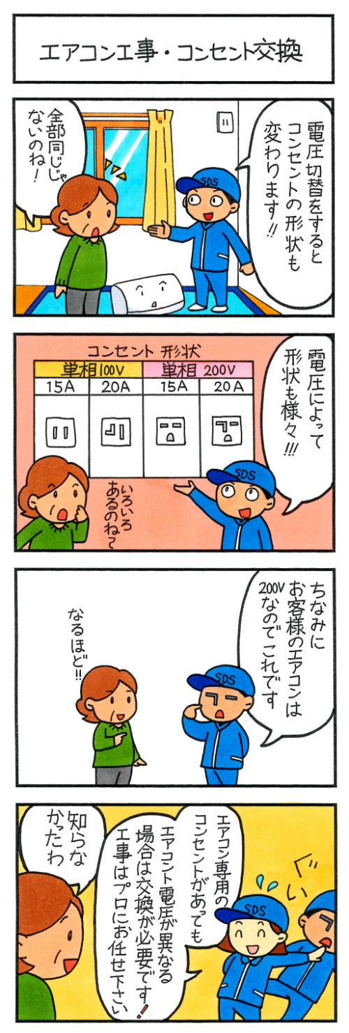 エアコン工事・コンセント交換