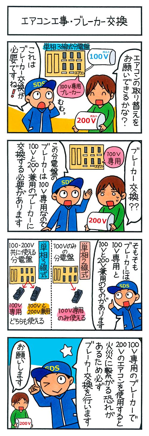 エアコン工事・ブレーカー交換